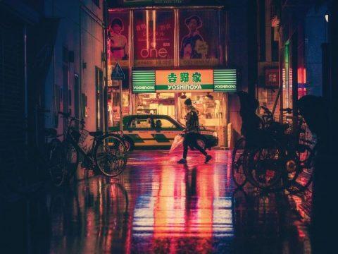Jalan Osaka di Malam Hari.